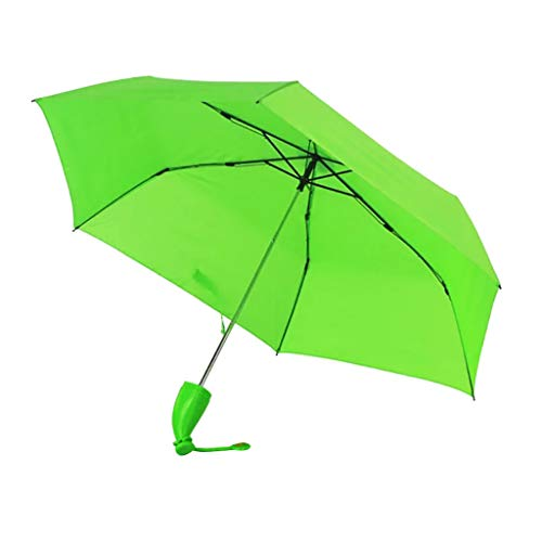 MA87 Regenschirm leicht, Taschenschirm Regenschirm Faltender Visier-Sonnenschutz-Regenschirm Im Freien UV-Faltender Regenschirm, Klein, Leicht & kompakt (Grün 1)