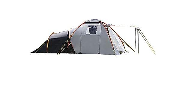 dwt Campingzelt Nova grauorange Camping Outdoor Tunnelzelt