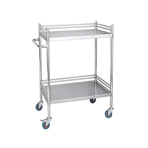 Rolling Suitable Tier Work Trolley CartStainless Beauty Kstcfc Utility Home Cart Tool Equipment Universal 2 Wheel Brake For Any With Steel Y7gI6yvfb