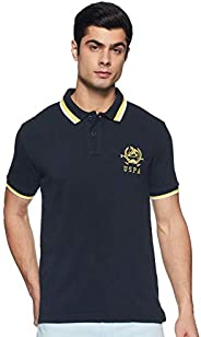 US Polo Association Men's Solid T-Shirt (USTS6162_Navy_M