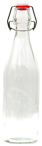 Unbekannt 500 ml Glasflasche mit Bügelverschluss, Glas Bügelflasche, leere Draht Bügel Flasche