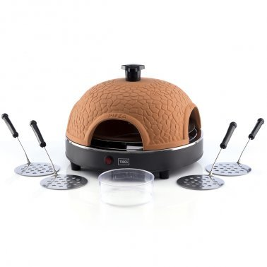 High Quality Pizzagusto Pizza Oven For 4 Persons - Featuring A Real Terracotta Dome - You Can Prepare Your Own Pizza In Only 5 Minutes