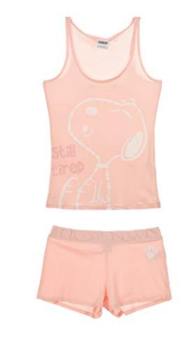 Snoopy Damen Kurz Pyjama Schlafanzug (Schlafanzug Damen Snoopy)