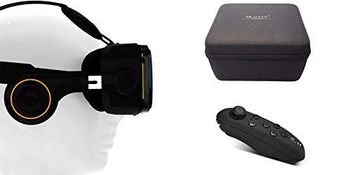 VR-Shark X4 Geschenkset & 360° Bluetooth Controller | VR Brille / Box für Smartphones mit 4,7 -...