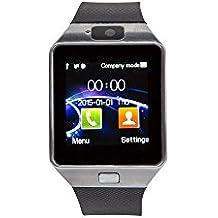 GOCLEVER Chronos Connect 2Smart Watch & Smarthphone 2en 1Bluetooth 4.0Cámara SIM Card llamadas SMS Fitness Touch Screen