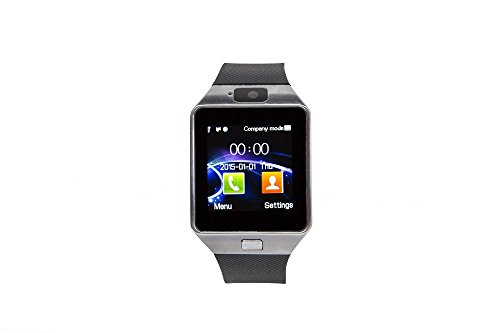 GoClever Chronos Connect 2 Smartwatch & Smarthphone 2 in 1 Bluetooth 4.0 Kamera Sim Card Telefonieren SMS Fitness Touch Screen (Farb-kameras 4)