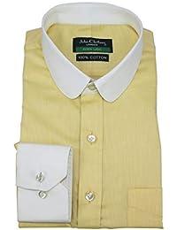 WhitePilotShirts Nuovo Giallo Penny Collare Banchieri Rotondo Collo Ufficio  Club Signori Polsino Singolo 200-33 93d5ba11e0d