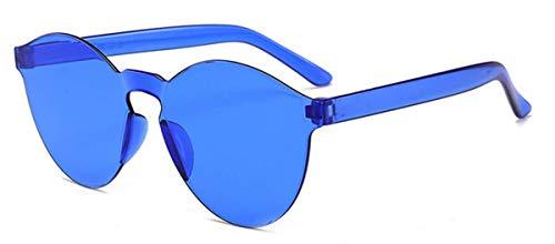 Fliegend Gafas de Sol Polarizadas Transparentes Hombre Mujer Gafas Vintage Retro Unisex UV400 Gafas de Sol Sin Marco Lente Espejo Súper Ligero