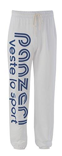 panzeri - UNI (H) - Pantaloni 100% cotone White - navy
