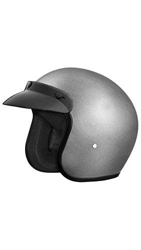 Studds Jetstar Classic Half Helmet (Silver and Grey, L)