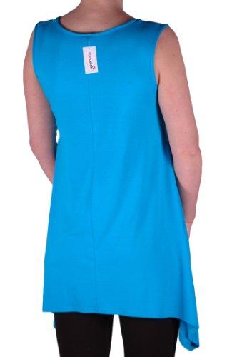 Eyecatch TM - Débardeur tête de mort dorée- Lucy - Femme -Grandes Tailles Turquoise