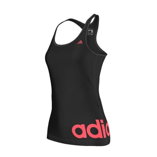 Adidas débardeur pour femme essentials linear Noir - Black/Flash Red S15