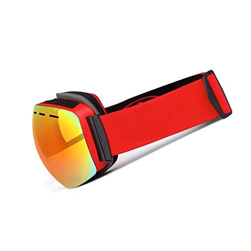 Aienid Polarisierte Sportbrille Rot Skibrille Winddichter Augenschutz Size:19X11CM