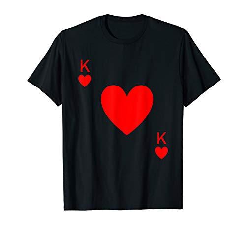 König Herz Kostüm Kinder Der - Herren Lustige König der Herzen Paare wirklich beängstigend T-Shirt