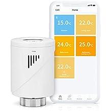 Válvula Termostática Inteligente Meross, Termostato de Calefacción, M30*1,5MM, Compatible con Alexa, Google Assistant e IFTTT, MTS100 (Se necesita hub)