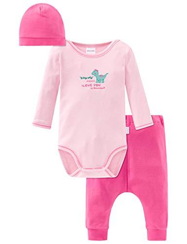 Schiesser Baby Mädchen Unterwäsche-Set, Mehrfarbig (Sortiert 1 901), 68 (Herstellergröße: 068) (3er Pack)