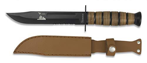 Albainox - 31762 - Cuchillo ALBAINOX Supervivencia.C/Funda. 18 cm - Herramienta para Caza, Pesca, Camping, Outdoor, Supervivencia y Bushcraft