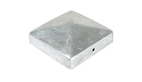 Poteau acier galvanisé à chaud 100x 100mm pyramide/capuchon pour poteau galvanisé 10x 10cm de jardin monde Verrou Berger