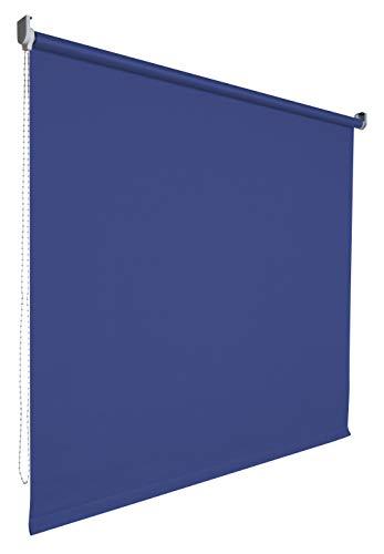 Verdunkelungsrollo Rollo Vorhang Fenster Kettenzugrollo Seitenzugrollo viele Farben Breite 60-200 cm Höhe 180 cm Stoff lichtundurchlässig verdunkelnd Metall Halter (Größe 190 x 180 cm Farbe Blau)