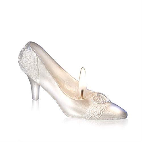 Suministros De Boda Romántico Creativo Regalo Sin Humo Velas Cenicienta Cristal Zapatos Cumpleaños Velas De Cumpleaños