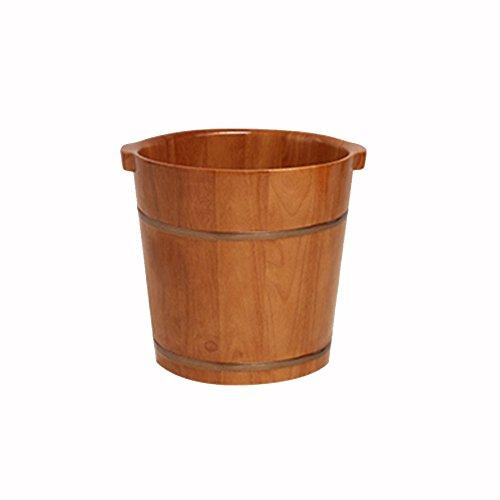 sexy Erwachsene Haushalt Eiche Fuß Badewanne Fuß Bad Barrel Woody Fußbad Massivholz Gesundheit Pediküre Becken Badewanne ( Farbe : 1 , größe : 38cm*34cm )