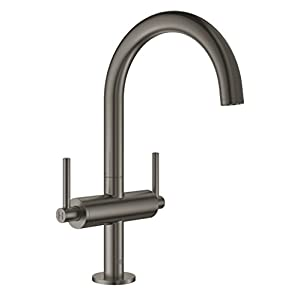 GROHE Atrio Lavabo de baño Grafito – Grifos de baño (Lavabo de baño, Grafito, Grifos de palanca, Doble, 1/2″, Tipo C)
