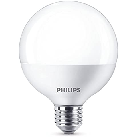 Philips 929001229201 - Bombilla LED globo, casquillo E27, consume 9,5 W, equivalente a 60 W, no regulable, luz blanca