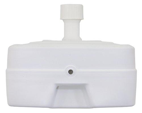 Schneider 856-01 Base ombrellone plastica con ruote, 45 litri, Bianco