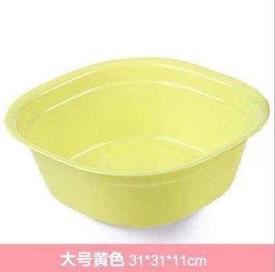 Spesso bacino bacinella di plastica per adulti per uso domestico lavandini wc vasca baby in costume infantile, verde - Grande