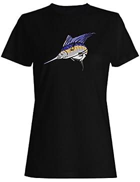 Pesca pescador pez pescador pesca divertido novedad camiseta de las mujeres rr62f