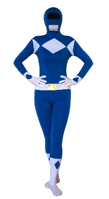 EyeCandy UK Blue Power Ranger SuperSkin Costume - Adult Unisex Men & Women Second Skin | Zentai Onesie Clothing Outfit Halloween Lycra (Small)