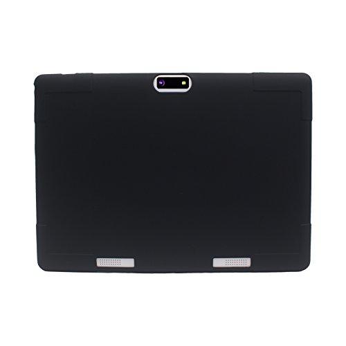 "Transwon Silikon Hülle für ACEPAD A96 10 Zoll (9.6""), Kivors 9.6 Zoll 3G Tablet PC, YUNTAB Tablet PC K98 9.6 Zoll, XIDO Z90 9.6, QIMAOO 9.6 Zoll 3G Tablet PC, Bovake 9.6, Auntwhale 9.7 Zoll, Fengxiang 9.7 - Schwarz"