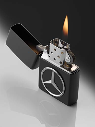 Mercedes-Benz Collection Zippo Feuerzeug | Messing Zippo/Benzin-Feuerzeug mit Mercedes Logo | schwarz