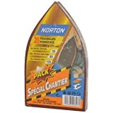 Norton Lot de 20 Triangles multi-ponceuse Grain assortis (Dimensions : 105x175 mm. )
