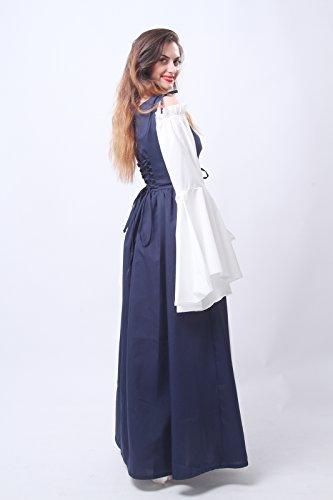 Nuoqi® Femmes Retro Manches longues longue Robe Beer bar serveuse desservant servante médiévale Halloween costume Déguisements traditionnels Costumes GC204B
