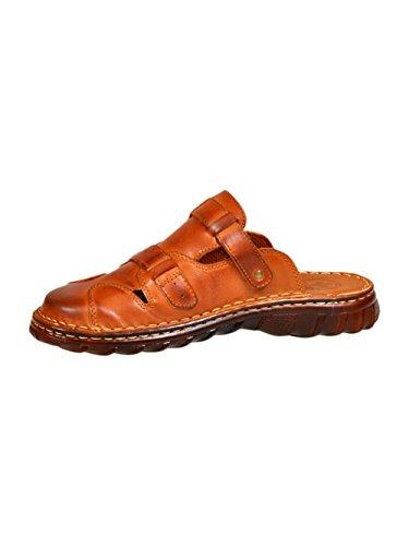 Herren Bequeme Sandalen Schuhe Mit Der Orthopadischen Einlage Aus Echtem Buffelleder Hausschuhe Modell 872 Braun