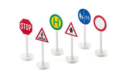 SIKU 0857, Verkehrszeichen-Set, 6-teilig, Metall/Kunststoff, Multicolor, Einfache Integration in SIKU-Spielwelten