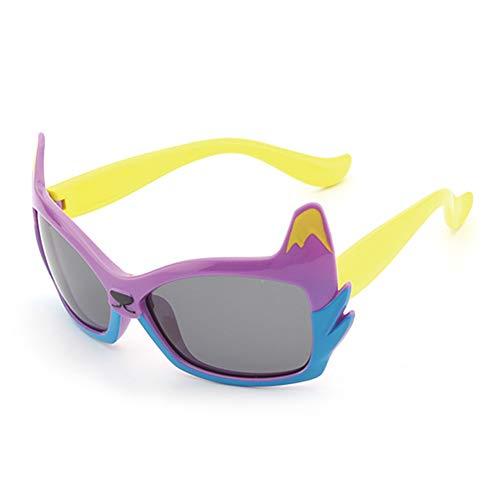 Wakerda Sonnenbrillen Kind Silikon Schutzbrillen Im Freien Sport Party Verkleiden Sich Sonnenbrille mit großem Rahmen Outdoor-Sonnenbrillen Weihnachten (Gelb Lila)