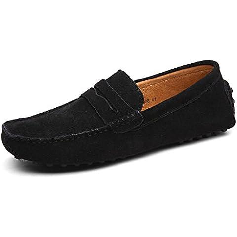 Oriskey Mocasines Pisos de Gamuza Hombres Loafers Casual Zapatos Zapatillas