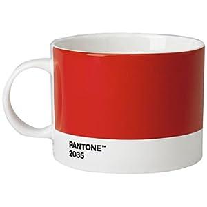 Pantone Porcellana della Tazza da tè, 475ML, Porcellana, Red 2035, 10.4 x 10.4 x 8 cm