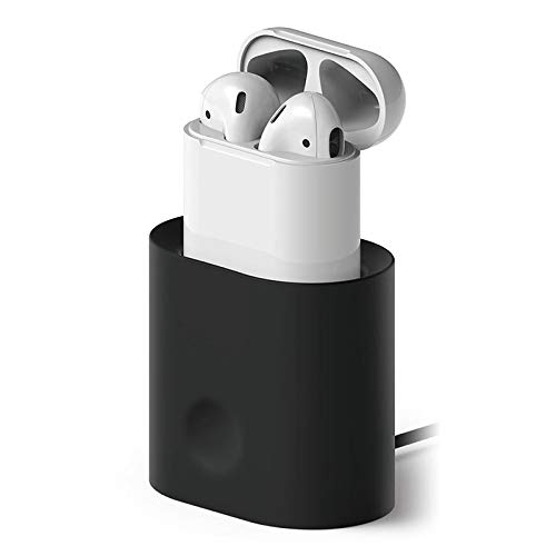 Adeeing Charger for AirPods Earphone Headset Charging Dock Station Soft Silicone Desk Charging Base Stand Holder for Air Pods Image 3