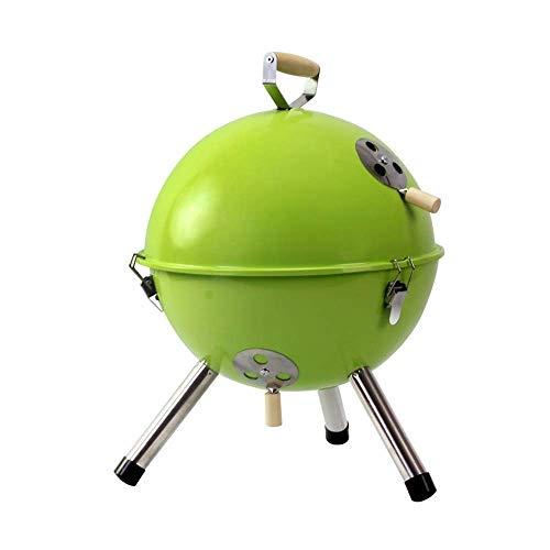 ZHJSKJ Familientreffen/Barbecue im Freien Mini Runde Barbecue Grill tragbare Holzkohlegrill Rack 3-5 für Garten Picknick Reisen Camping Barbecue grün blau Outdoor Party (Color : Green) -