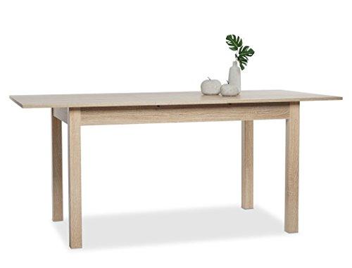 expendio Esstisch Cottbus Eiche Sonoma 120(160) x70 cm Esszimmertisch Speisetisch Auszugstisch Küchentisch Tisch Esszimmer Küche
