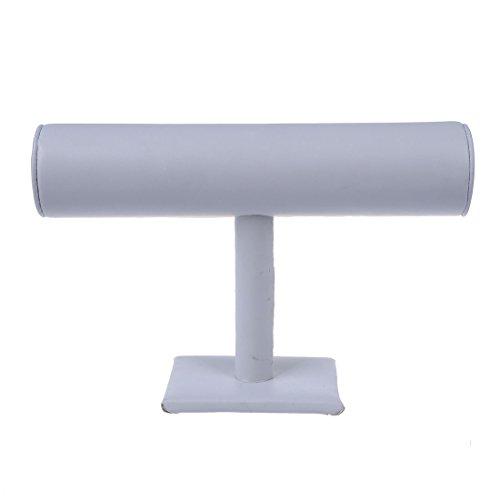 SODIAL(R)Sostenedor soporte estante de exhibicion blanco de joya pulsera 10x6 pulgada CALIENTE
