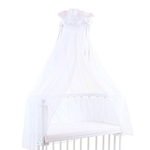 Preisvergleich Produktbild babybay Himmel Cotton mit Schleife für alle Modelle, weiß