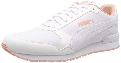 Puma Unisex-Erwachsene ST Runner v2 NL Fitnessschuhe Weiß White-Peach Bud, 43 EU