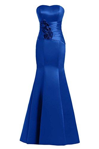 Sunvary Mermaid Sweetheart fiori in raso per abiti da sera Gowns sera Royal Blue