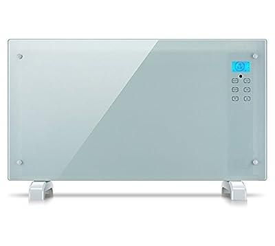 """Glaskonvektor """"Oslo"""" Heizgerät Heizung Radiator AY 497 (LCD-Display, Touchscreen, 2 Heizstufen (1000/2000 Watt), Zeitschaltuhr, inkl. Fernbedienung) von El Fuego auf Heizstrahler Onlineshop"""
