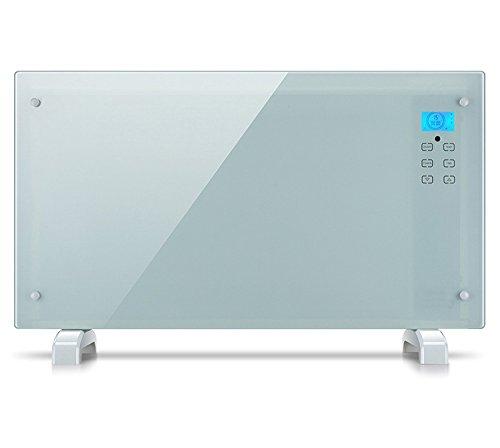 Glaskonvektor 'Oslo' Heizgerät Heizung Radiator AY 497 (LCD-Display, Touchscreen, 2 Heizstufen (1000/2000 Watt), Zeitschaltuhr, inkl. Fernbedienung)