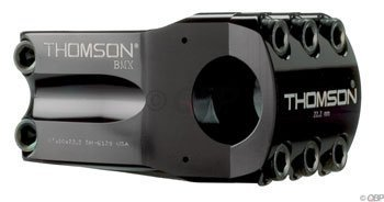THOMSON ELITE BMX 22 2 BICYCLE STEM (1 1/8 X 0 DEGREE X 50 X 22 2 BMXMM  BLACK) BY THOMSON
